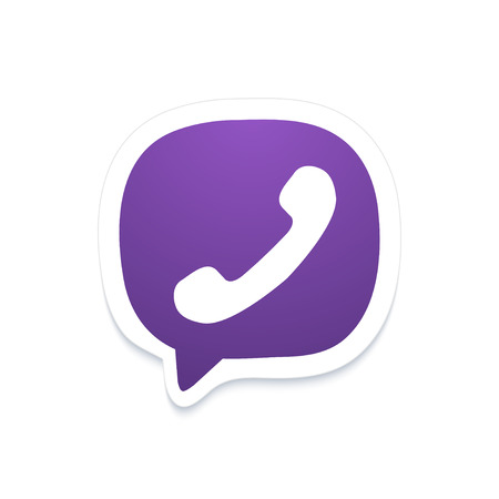 friend nobody: Vector modern phone icon in bubble speech