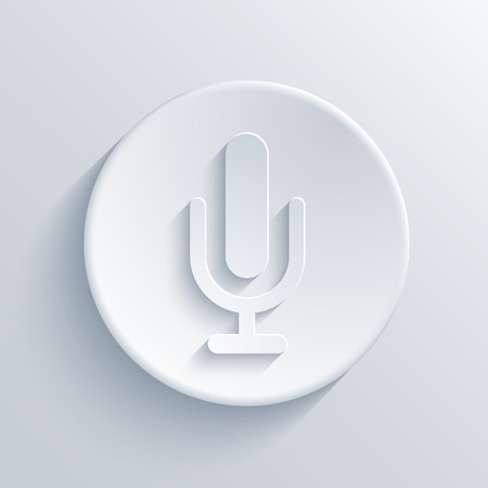 vocal: Vector modern microphone icon