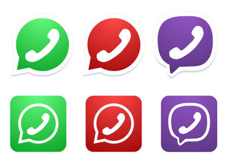 friend nobody: Vector modern phone icon set
