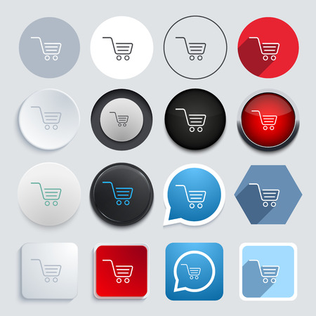 sell car: Vector modern shopping icons set
