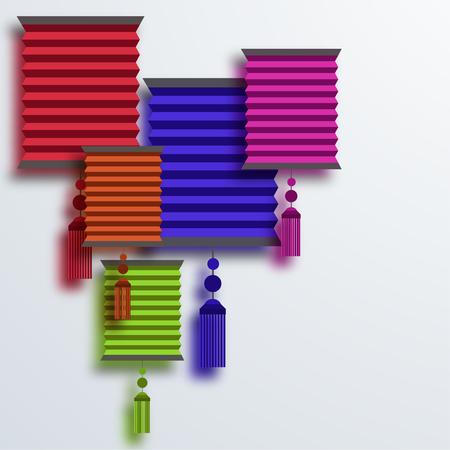 papierlaterne: Vector modernen Papierlaterne kreativen Hintergrund. Illustration