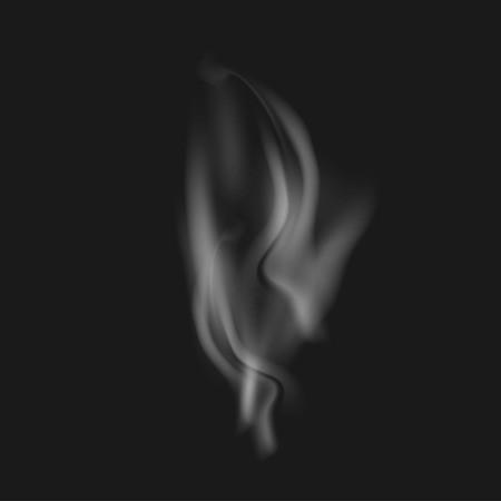 black smoke: Vector realistic white smoke on a black background Illustration