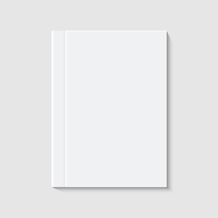 vector modern white book or brochure on white background