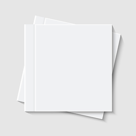 vector modern white book or brochure on white background