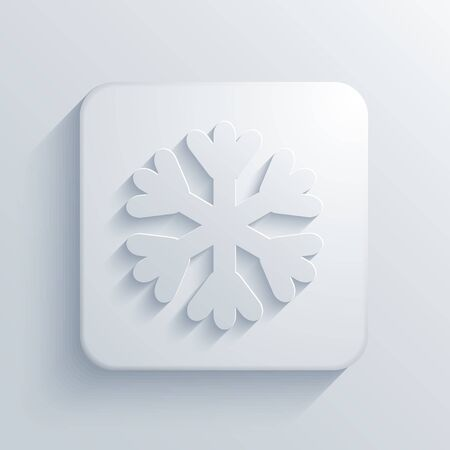 happy web: Vector modern snowflake light icon with shadow