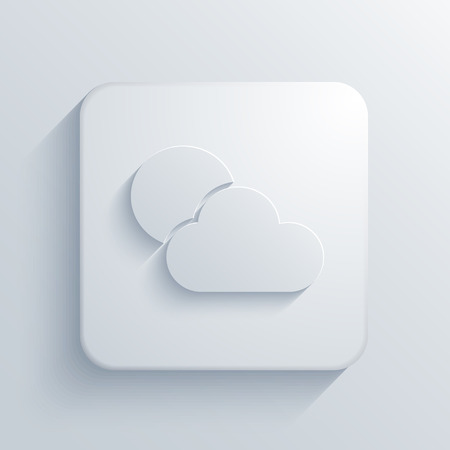 day forecast: Vector modern weather light icon with shadow Illustration