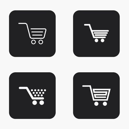 super market: Vector modern shopping  icons set on white background Illustration