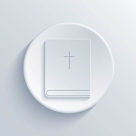 bible light: Vector modern bible light circle icon with shadow Illustration
