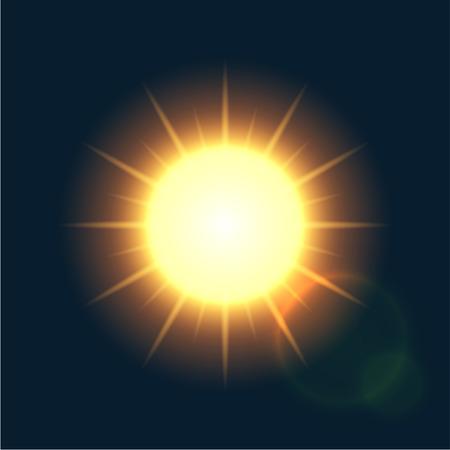 Vector modern sun background. sunshine design. Eps10 Illustration