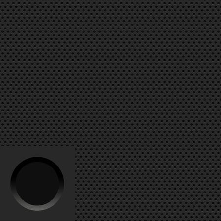 Vector modern black steel pattern, seamless metal grid texture background