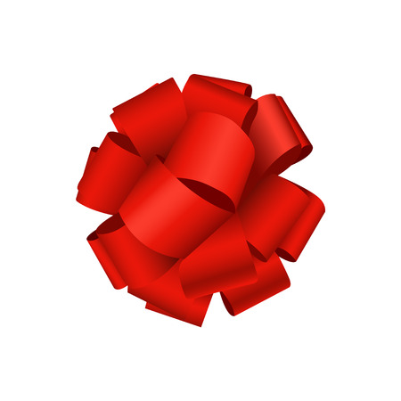 modern red bow on white background. gift wrap or wrapping paper Illustration