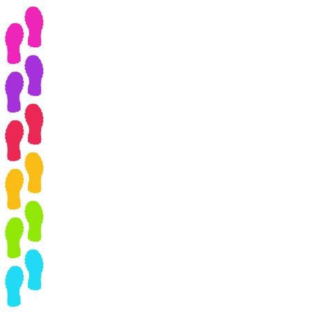 Vector modern colorful footprint background. Creative design
