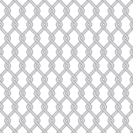 chainlink: Vector modern gray wire fence background texture Illustration
