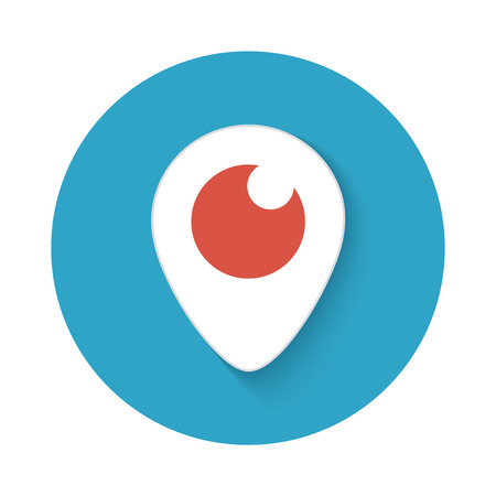 periscope: Vector modern periscope icon isolated on white background
