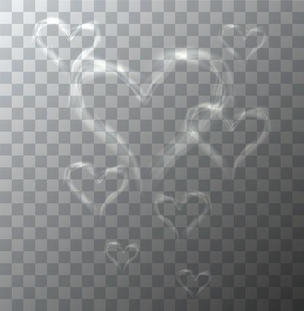 humo: Vector el corazón moderno de humo en el fondo de la muestra. eps10