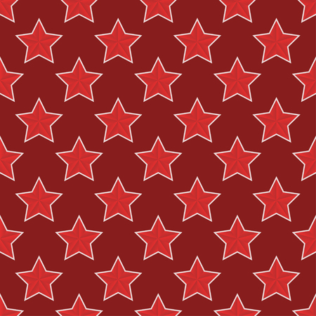 stalin: Vector modern red 23 february seamless pattern background Illustration