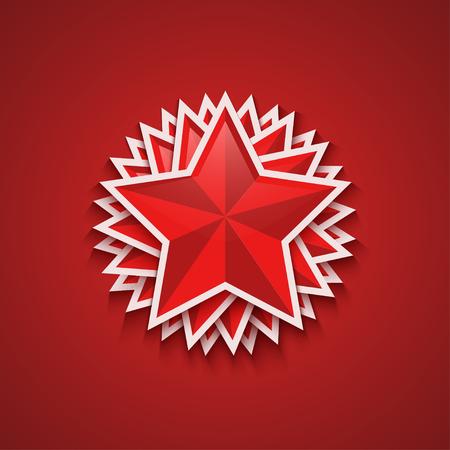 stalin: Vector modern red 23 february background. Eps10