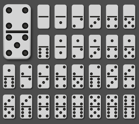 Vector modern domino set on gray background. Eps10 Иллюстрация