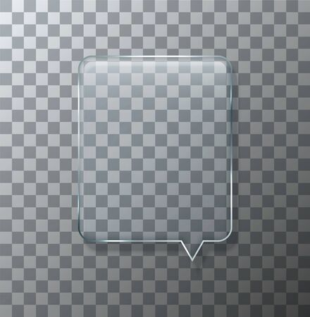 bubble background: Vector modern glass bubble speech on sample background. Eps10 Illustration