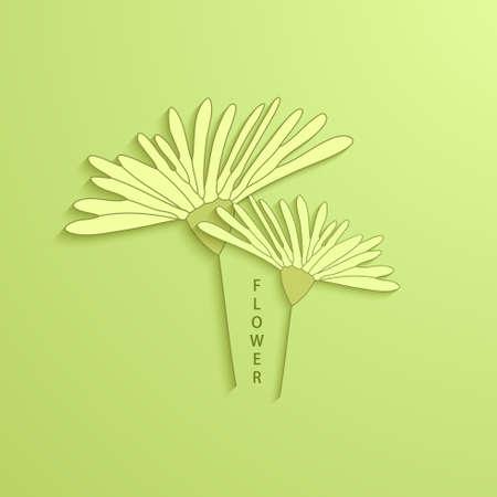 postcard background: Vector modern flowers background for invitation or postcard