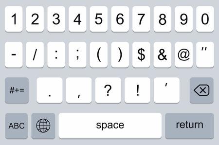 keypad: vector modern keyboard of smartphone, numerals buttons Illustration