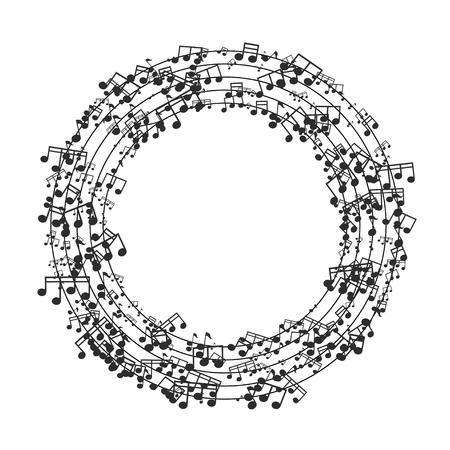 composition art: Vector modern black music background design. Eps10