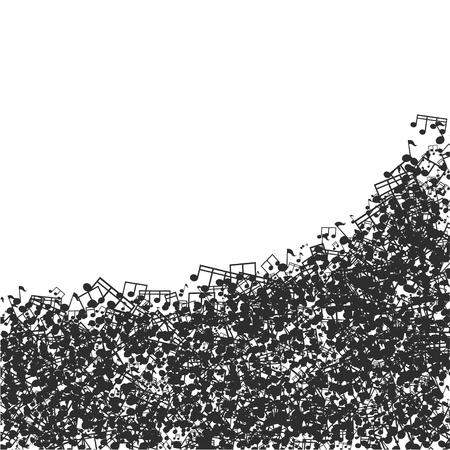 minim: Vector modern black music background design. Eps10