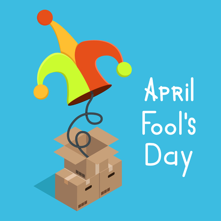 idiot box: modern april fools day. illustration