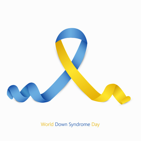 world down syndrome day symbol on white background 일러스트