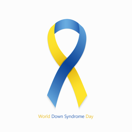 world down syndrome day symbol on white background