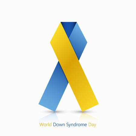 syndrome: world down syndrome day symbol on white background Illustration