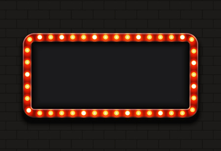 broadway show: modern retro billboard background with place for your text Illustration