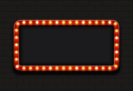 nowoczesny retro tablicy reklamowej z miejscem na tekst