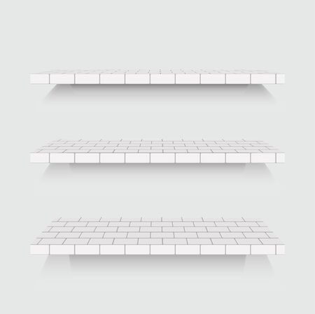 shelfs: modern  shelfs set on gray background