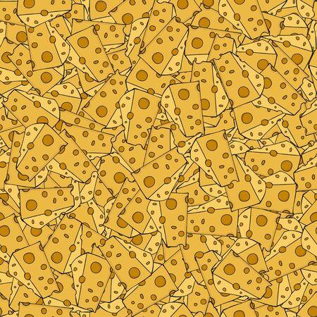 edam: Vector modern cheese seamless pattern background. Illustration