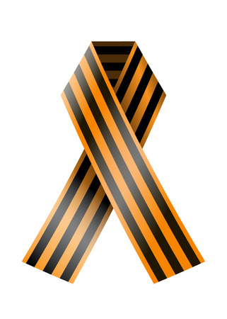george: vector St. George ribbon on a white background. May 9 background