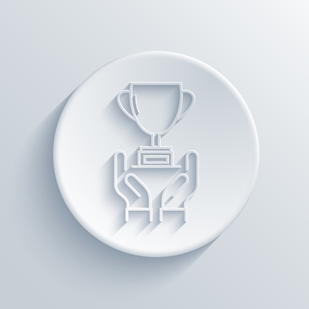 honour: Vector modern light award icon with shadow