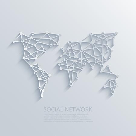 Vector moderno social network luce concetto di fondo. Circuito o basso concetto di poli