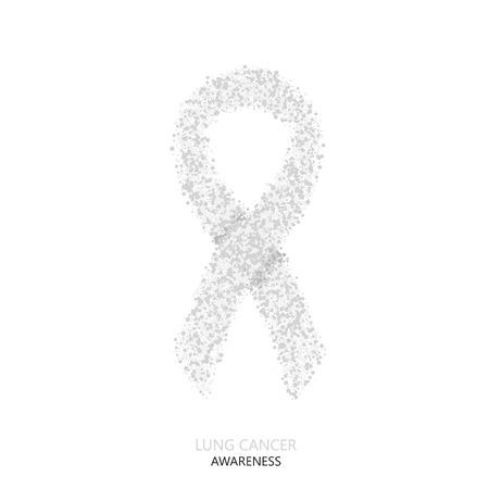 Vector modern Lungenkrebs Bewusstsein Kreise desigen. graue Band auf weißem Hintergrund Standard-Bild - 57608903