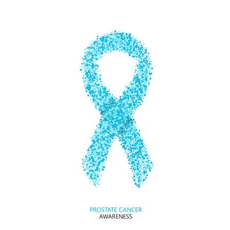 prostate: Vector modern prostate cancer awareness circles desigen. blue ribbon isolated on white background