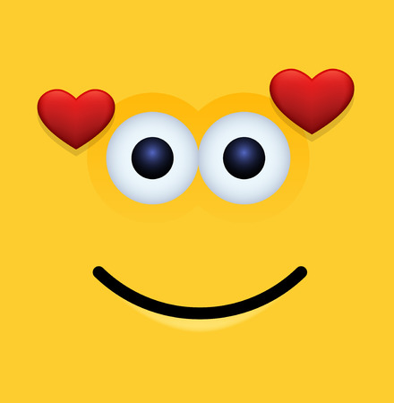 smily face: modern yellow face background. Illustration