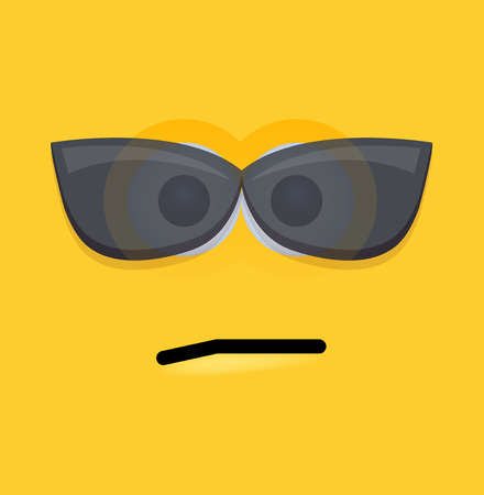 smily: modern yellow face background. Illustration