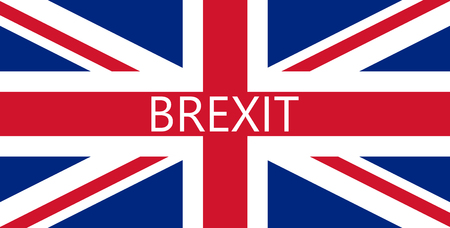 secession: vector Great Britain referendum on secession from the European Union. flag background