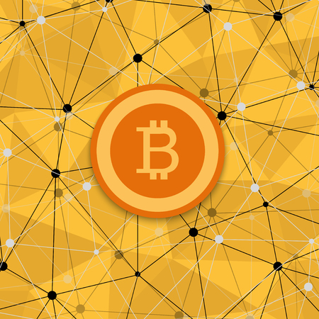 peer: vetor modern concept of bitcoin, new money and polygonal background