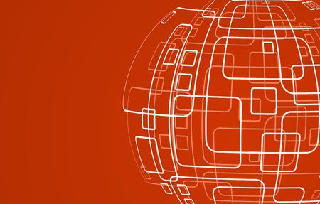techology: Vector modern techology concept background. Illustration