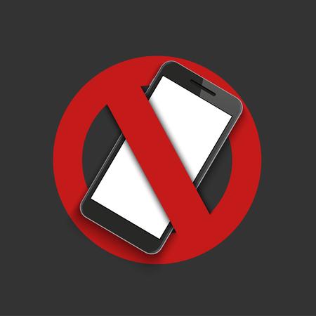 ベクトル現代記号 - 携帯電話をオフにします。