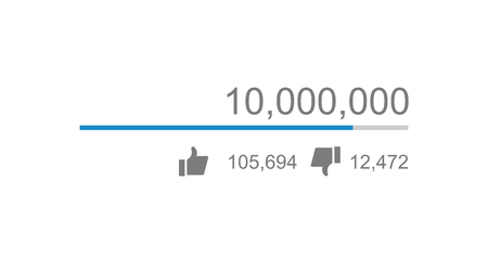 Vector of video views counter, counter of likes and dislikes close up Ilustração