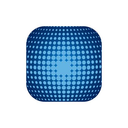 techology: Vector modern techology icon on white background.