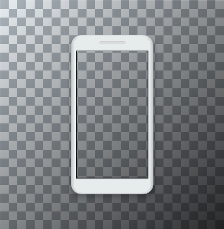 Vector modern smartphone with empty screen on transparent background. Stockfoto - 90927012