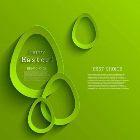 Vector modern easter eggs background.